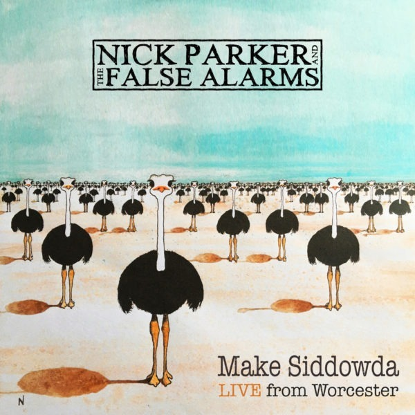 Nick Parker & The False Alarms Live Album Cover Art